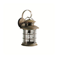 Kichler 9761RST Rustic 1 Light 18 inch Rustic Outdoor Wall Lantern