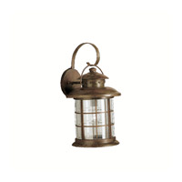 Kichler Lighting Rustic 1 Light Outdoor Wall Lantern in Rustic 9762RST