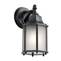 Kichler Chesapeake 1 Light Outdoor Wall Mount in Black 9774BKS