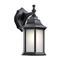 Kichler 9776BKS Chesapeake 1 Light 12 inch Black Outdoor Wall Mount