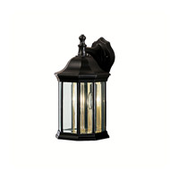 Kichler 9777BK Chesapeake 3 Light 15 inch Black Outdoor Wall Lantern