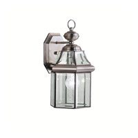 Kichler Lighting Embassy Row 1 Light Outdoor Wall Lantern in Antique Pewter 9784AP