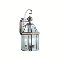Kichler Lighting Embassy Row 3 Light Outdoor Wall Lantern in Antique Pewter 9785AP photo thumbnail