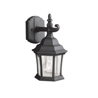 Kichler 9788BK Townhouse 1 Light 12 inch Black Outdoor Wall Lantern photo thumbnail