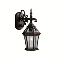 Kichler 9789BK Townhouse 1 Light 15 inch Black Outdoor Wall Lantern