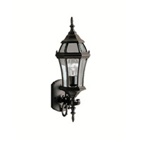 Kichler Lighting Townhouse 1 Light Outdoor Wall Lantern in Black (Painted) 9790BK