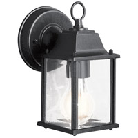 Barrie 1 Light 9 inch Black Outdoor Wall Lantern in Standard