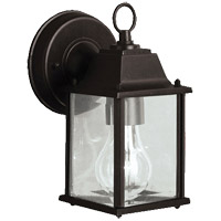Barrie 1 Light 9 inch Black Outdoor Wall Light in LED