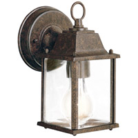 Barrie 1 Light 9 inch Tannery Bronze Outdoor Wall Lantern in Standard