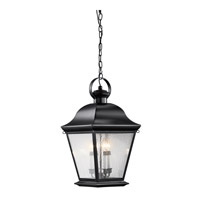 Kichler Lighting Mount Vernon 4 Light Outdoor Hanging Pendant in Black 9804BK photo thumbnail
