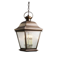 Kichler 9804OZ Mount Vernon 4 Light 13 inch Olde Bronze Outdoor Pendant