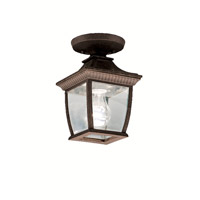 Kichler Lighting Amesbury 1 Light Outdoor Ceiling in Tannery Bronze w/ Gold Accent 9806TZG photo thumbnail