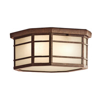 Kichler Lighting Crosett 3 Light Outdoor Flush Mount in Aged Bronze 9811AGZ photo thumbnail