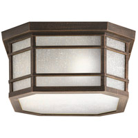 Cameron 3 Light 13 inch Prairie Rock Outdoor Flush Mount