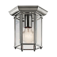 Kichler Lighting Signature 1 Light Outdoor Flush Mount in Stainless Steel 9816SS