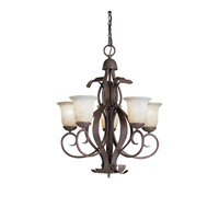 Kichler Lighting High Country 5 Light Outdoor Chandelier in Old Iron 9818OI photo thumbnail