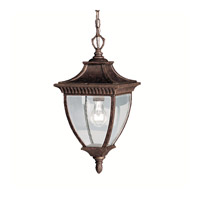 Kichler Lighting Amesbury 1 Light Outdoor Pendant in Tannery Bronze w/ Gold Accent 9826TZG