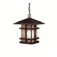 Kichler Lighting Cross Creek 1 Light Outdoor Pendant in Aged Bronze 9829AGZ photo thumbnail