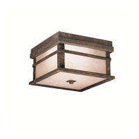 Kichler 9830AGZ Cross Creek 2 Light 9 inch Aged Bronze Outdoor Flush Mount photo thumbnail