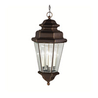 Kichler Lighting Savannah Estates 4 Light Outdoor Pendant in Olde Bronze 9831OZ