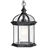 Kichler Lighting Barrie 1 Light Outdoor Pendant in Black (Painted) 9835BK