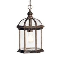 Kichler 9835TZL18 Barrie LED 8 inch Tannery Bronze Pendant Ceiling Light