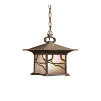 Kichler Lighting Morris 1 Light Outdoor Pendant in Distressed Copper 9837DCO photo thumbnail