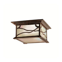 Morris 2 Light 12 inch Distressed Copper Outdoor Flush Mount
