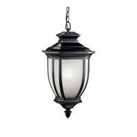Kichler 9843BK Salisbury 1 Light 12 inch Black Outdoor Pendant
