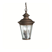 Kichler Lighting Eau Claire 3 Light Outdoor Pendant in Olde Bronze 9847OZ photo thumbnail