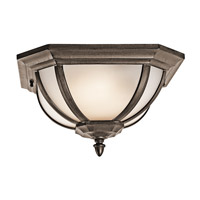 Kichler Lighting Signature 2 Light Outdoor Flush Mount in Brown Stone 9848BST photo thumbnail
