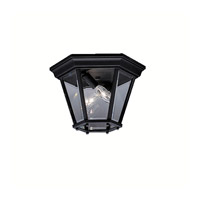 Madison 2 Light 11 inch Black Outdoor Flush Mount