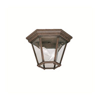 Madison 2 Light 11 inch Tannery Bronze Outdoor Flush Mount