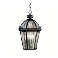 Kichler Lighting Trenton 3 Light Outdoor Pendant in Black 9851BK photo thumbnail