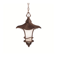 Kichler Lighting Cotswold 1 Light Outdoor Pendant in Aged Bronze 9852AGZ photo thumbnail