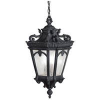Tournai 3 Light 12 inch Textured Black Outdoor Hanging Pendant