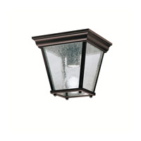 Kichler Lighting Signature 1 Light Outdoor Flush Mount in Black (Painted) 9859BK