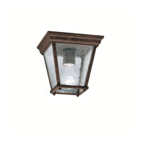Signature 1 Light 7 inch Tannery Bronze Outdoor Flush Mount