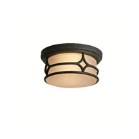 Kichler Lighting Chicago 2 Light Outdoor Flush Mount in Aged Bronze 9867AGZ