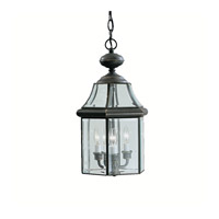 Kichler 9885OZ Embassy Row 3 Light 11 inch Olde Bronze Outdoor Pendant