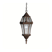 Kichler 9892TZ Townhouse 1 Light 9 inch Tannery Bronze Outdoor Pendant