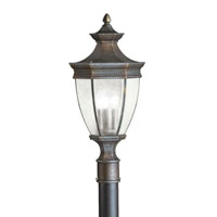 Kichler Lighting Warrington 3 Light Outdoor Post Lantern in Tannery Bronze 9898TZ