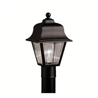 Kichler Lighting Outdoor Plastic Fixtures 1 Light Outdoor Post Lantern in Black 9901BK photo thumbnail