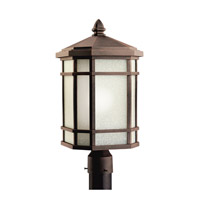 Kichler Lighting Cameron 1 Light Outdoor Post Lantern in Prairie Rock 9902PR photo thumbnail