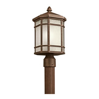 Kichler Lighting Cameron 1 Light Outdoor Post Lantern in Prairie Rock 9911PR photo thumbnail