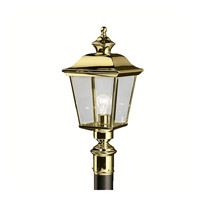 Kichler Lighting Bay Shore 1 Light Outdoor Post Lantern in Polished Brass 9913PB