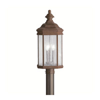 Kichler Lighting Kirkwood 3 Light Outdoor Post Lantern in Tannery Bronze 9918TZ