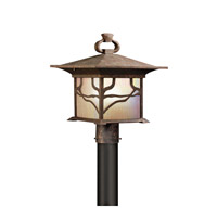Kichler 9920DCO Morris 1 Light 15 inch Distressed Copper Outdoor Post Lantern