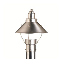 Kichler Lighting Seaside 1 Light Outdoor Post Lantern in Brushed Nickel 9923NI