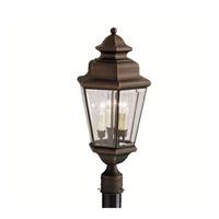 Kichler 9931OZ Savannah Estates 3 Light 25 inch Olde Bronze Outdoor Post Lantern